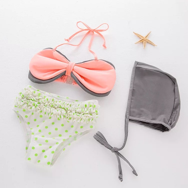 Bow Shaped Baby Swimsuit