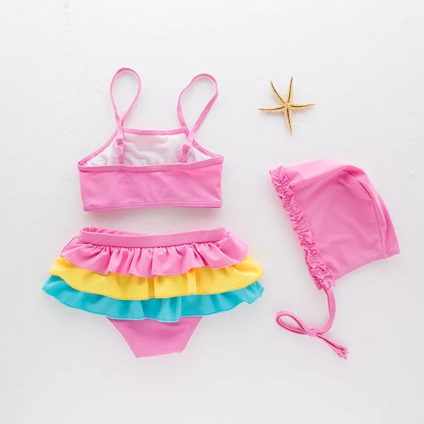 Multicolor Baby Swimsuit