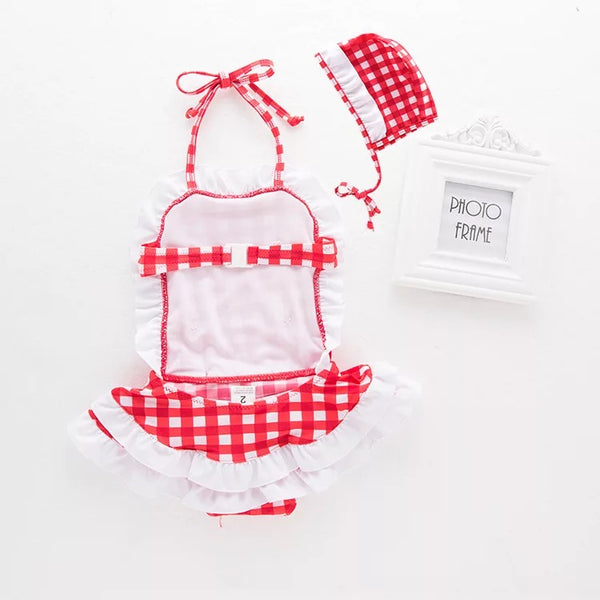 Vintage Plaided Baby Swimsuit