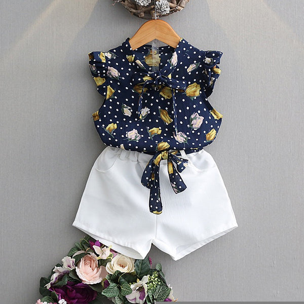 Floral Printed Cap Sleeves Top And Shorts Set