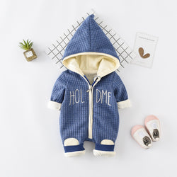 Winter Zipper Hooded Jumpsuit