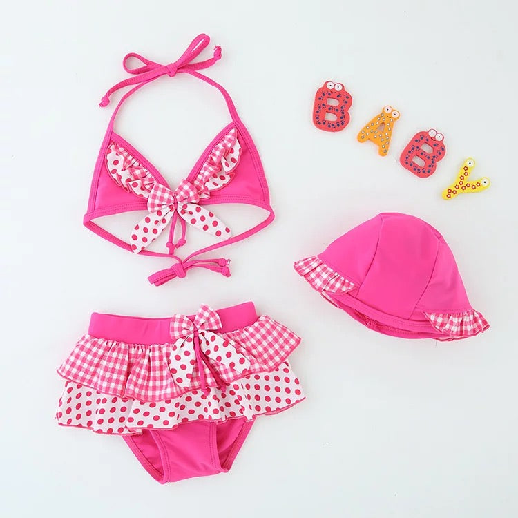 Polka Dot Vintage Baby Swimsuit