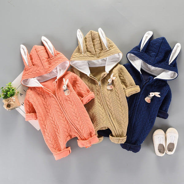 Rabbit Made Hooded Winter Jumpsuit