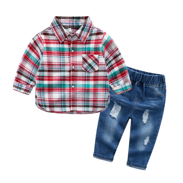 Shirt With Rugged Denim Set