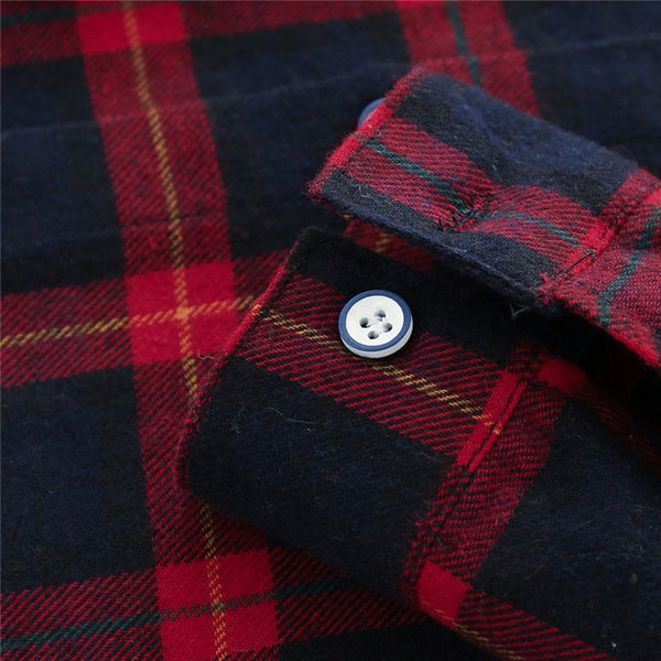 Flannel Check Shirt With Denim