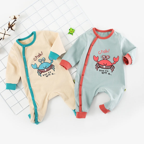 Crab Printed Baby Jumpsuit