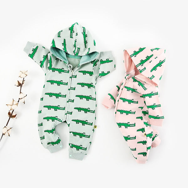 Crocodiles Printed Baby Jumpsuit