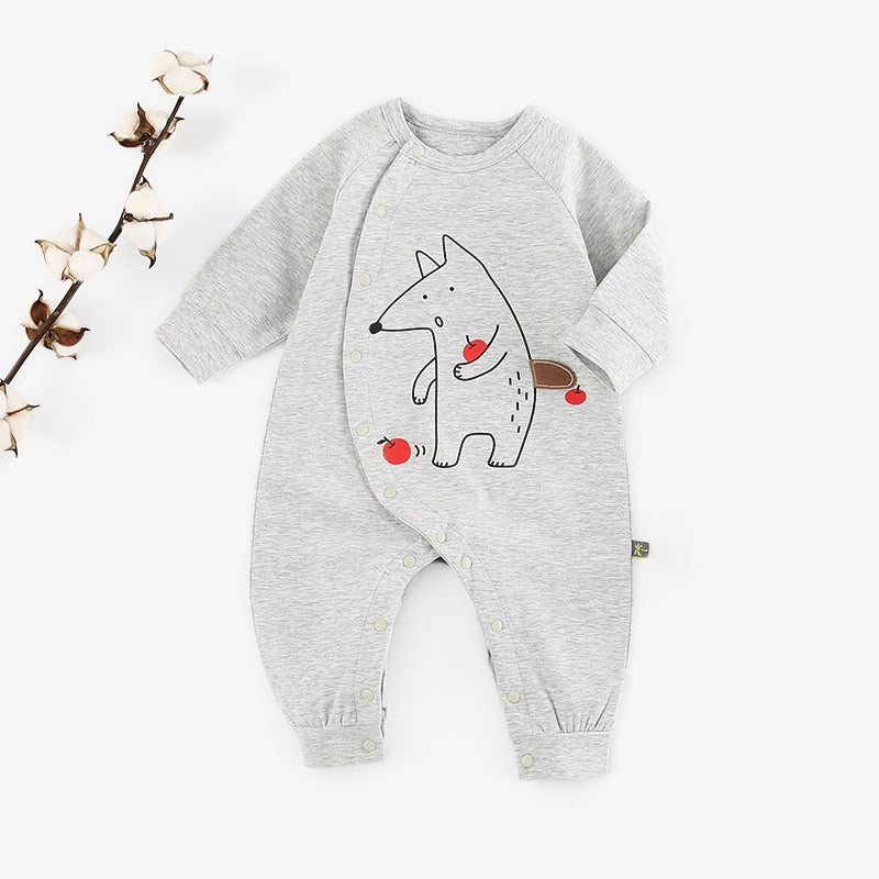 Animal Printed Baby Jumpsuit