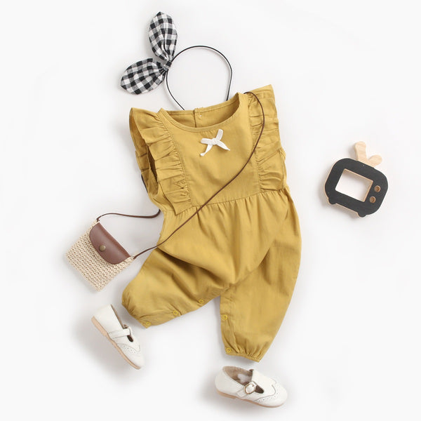 Bow Knot Ruffles Jumpsuit
