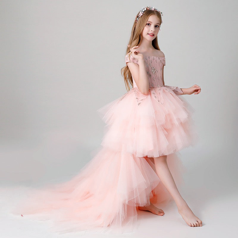 Frilled Long Party Dress