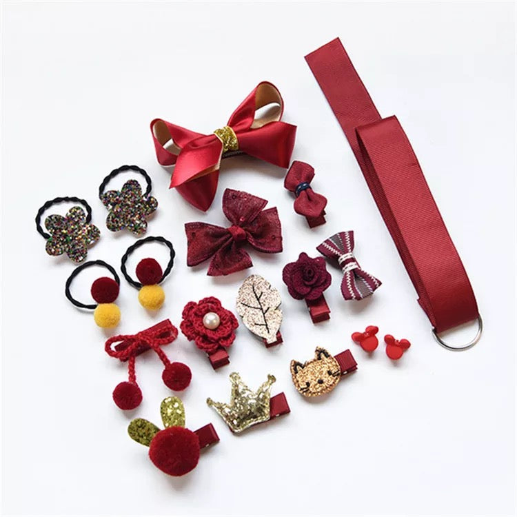 18-Pack Hairclips Hairband Set