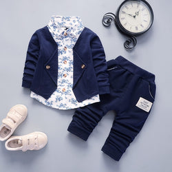 Floral Shirt Attached Suit Set