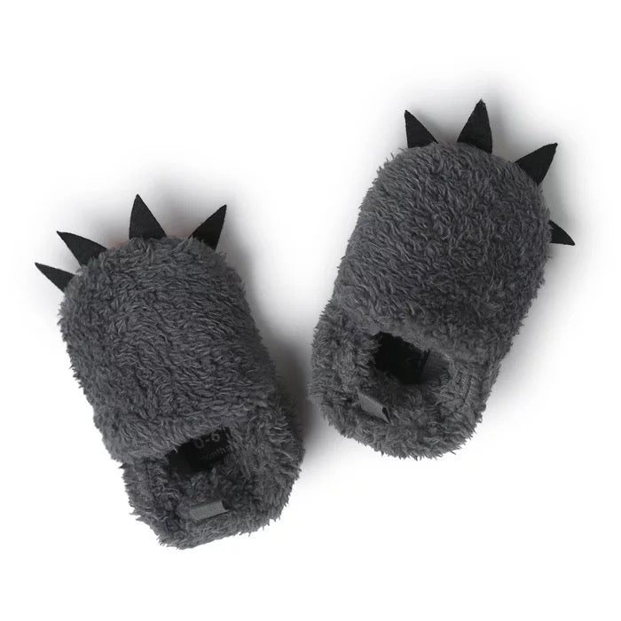Cute Plush Claw Shaped Crib Shoes