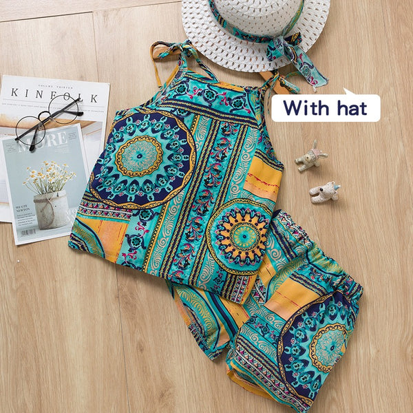 Printed Summer Set With Hat