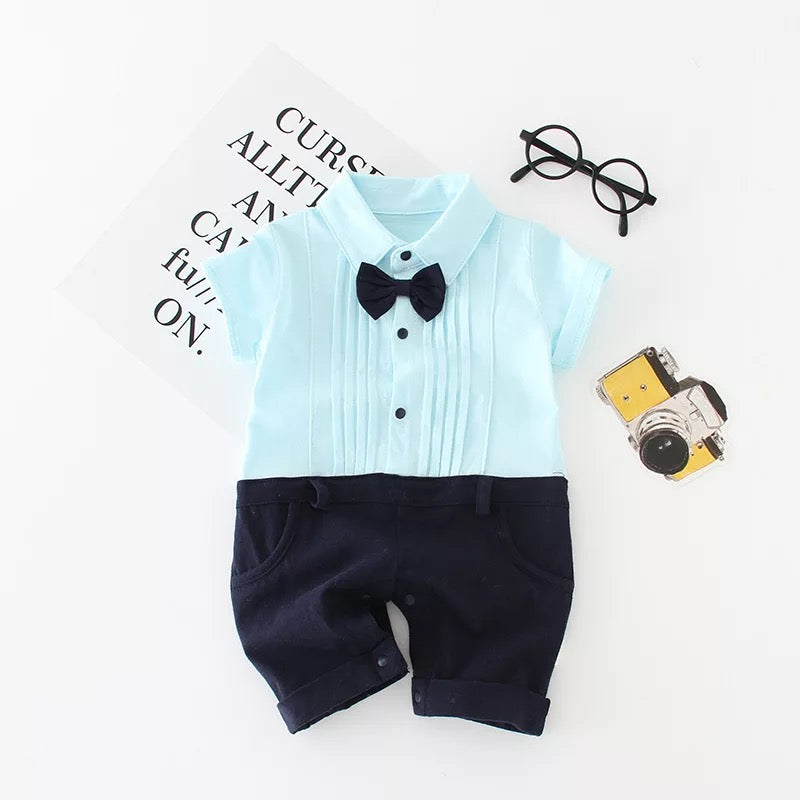 Gentleman Bow Romper For Summers