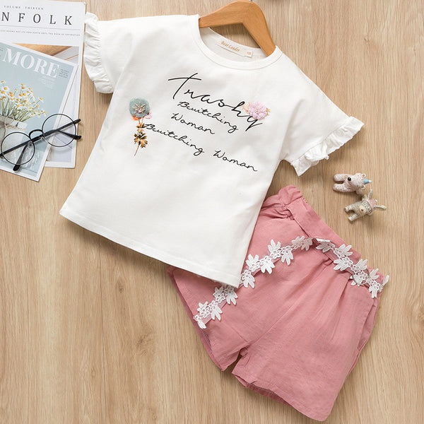 Printed Tshirt And Shorts Summer Set