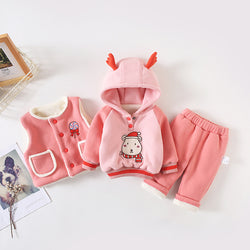 Reindeer Hooded Winter Set