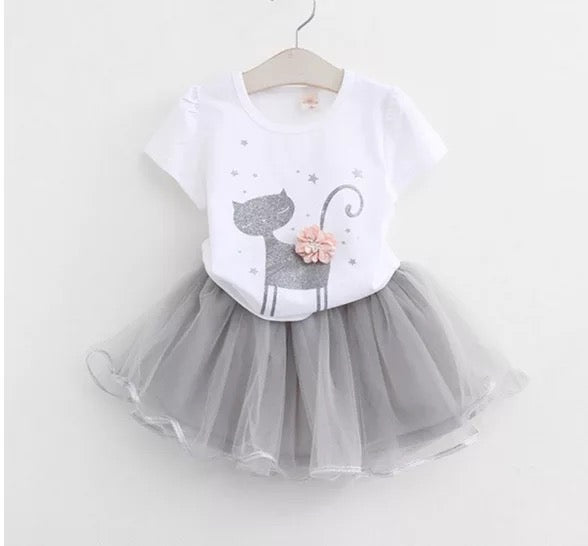 Cat Tutu Skirt Set