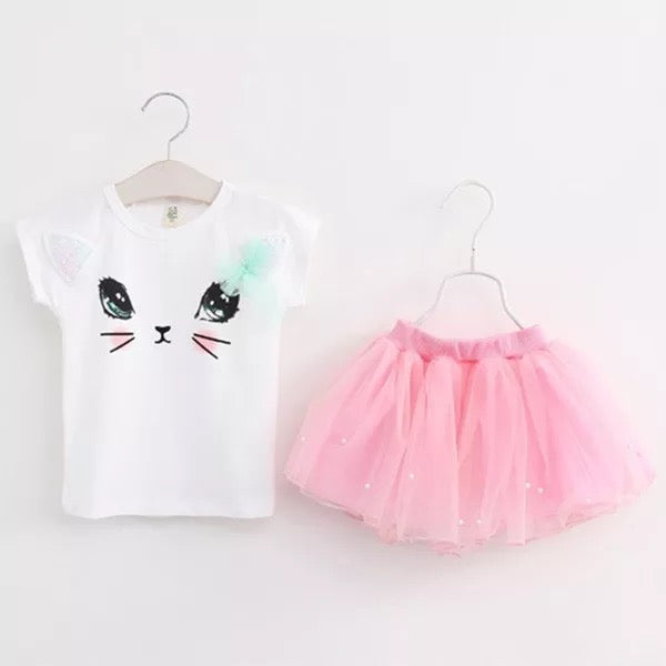 Cat Face Tutu Set