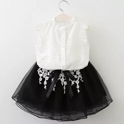 Embroidered Tutu Set