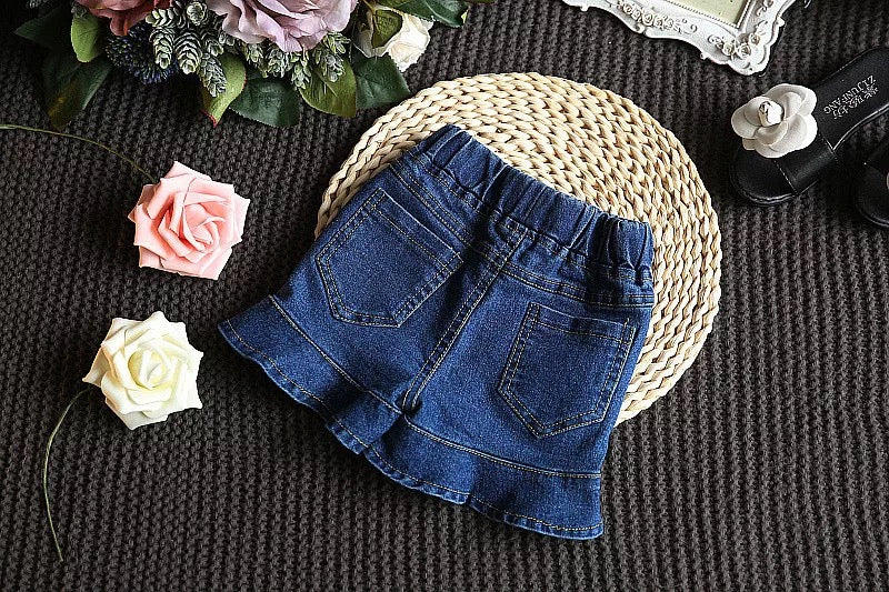 Top Plus Denim Skirt Set