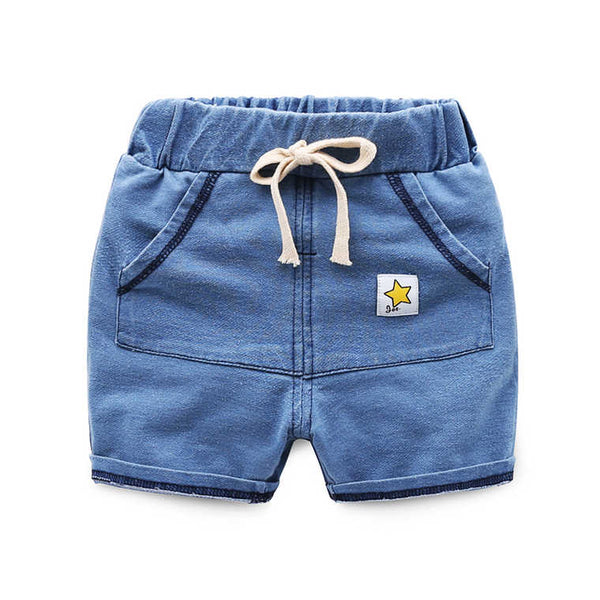Star Knitted Denim Summer Shorts