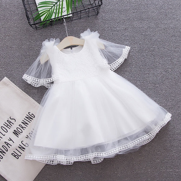 Flower Made Net Party Dress
