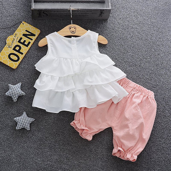 Ruffles Top And Pants Set