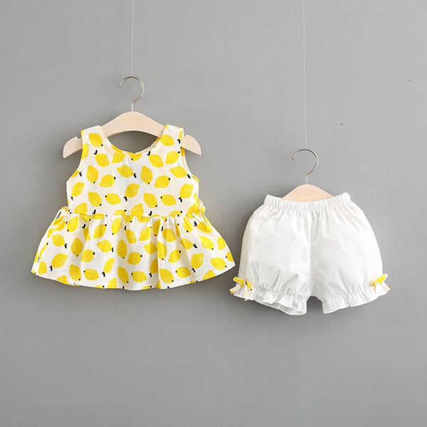 Mango Printed Top And Shorts Set