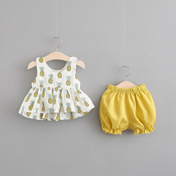 Pineapple Printed Summer Set