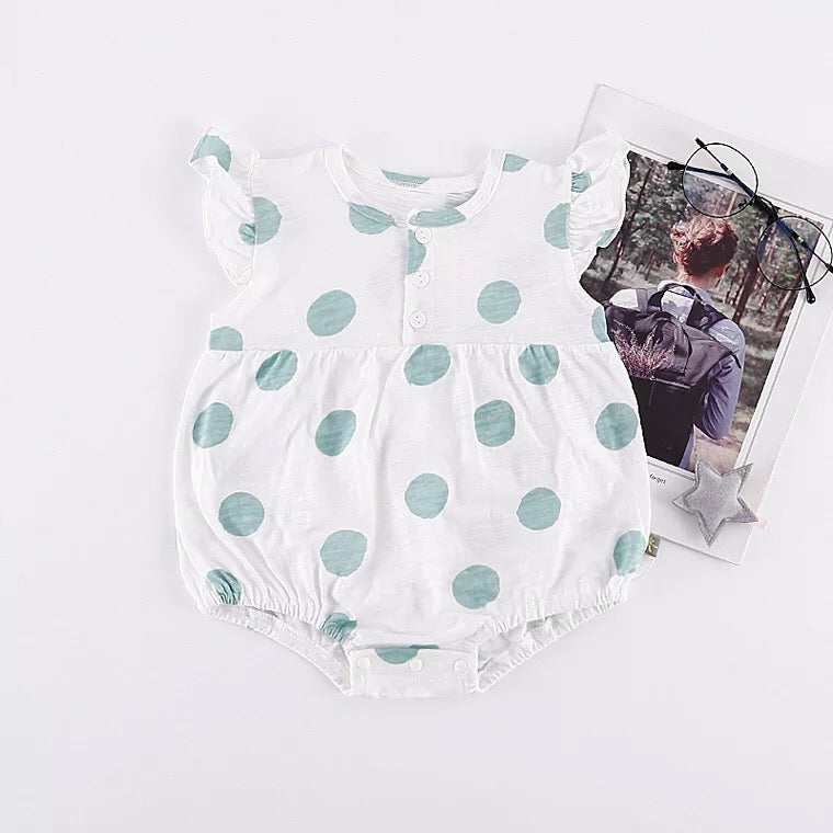 Polka Dot Baby Girls Romper