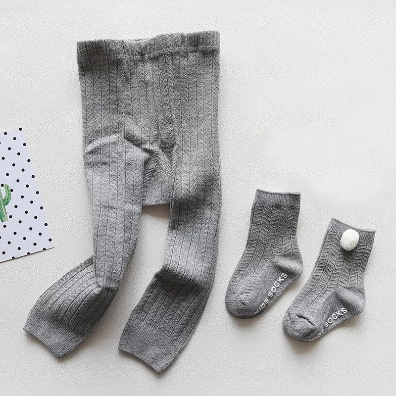 Stretchy Leggings And Socks Set