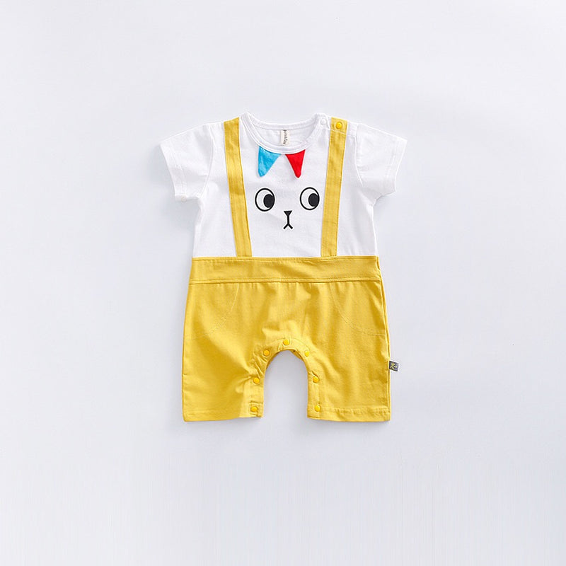 Swifty Eyes Dungaree Style Romper