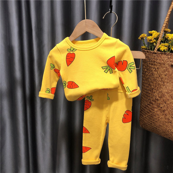 Carrot Printed Night Suit