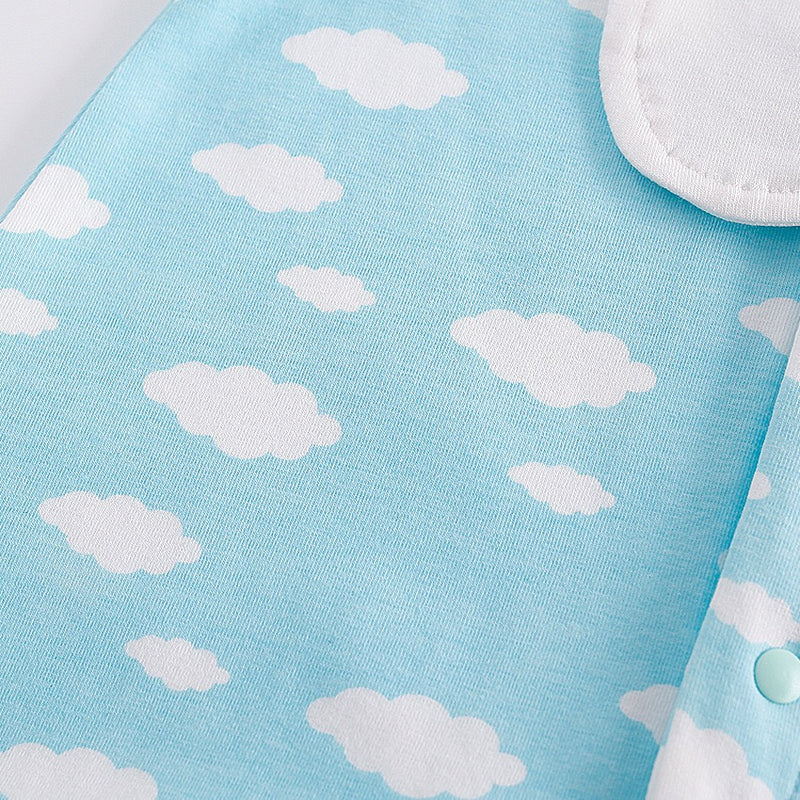 Cloud Printed Bib Bodysuit