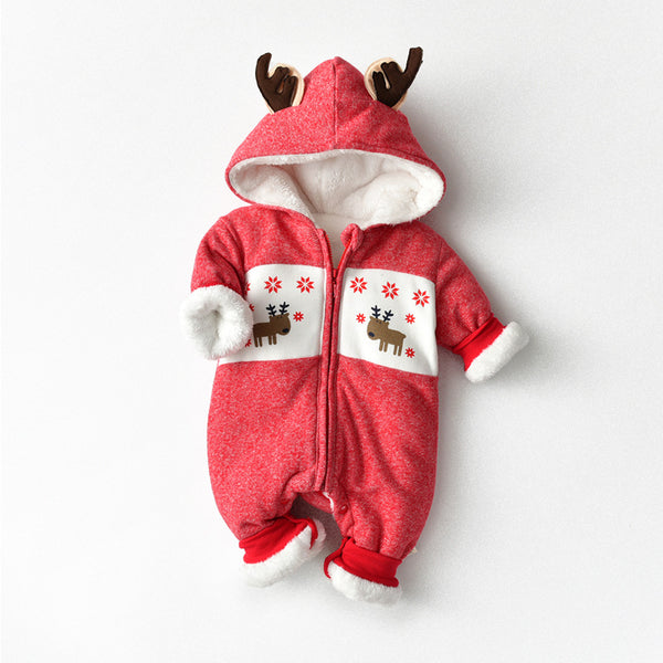 Reindeer Hooded Winter Jumpsuit