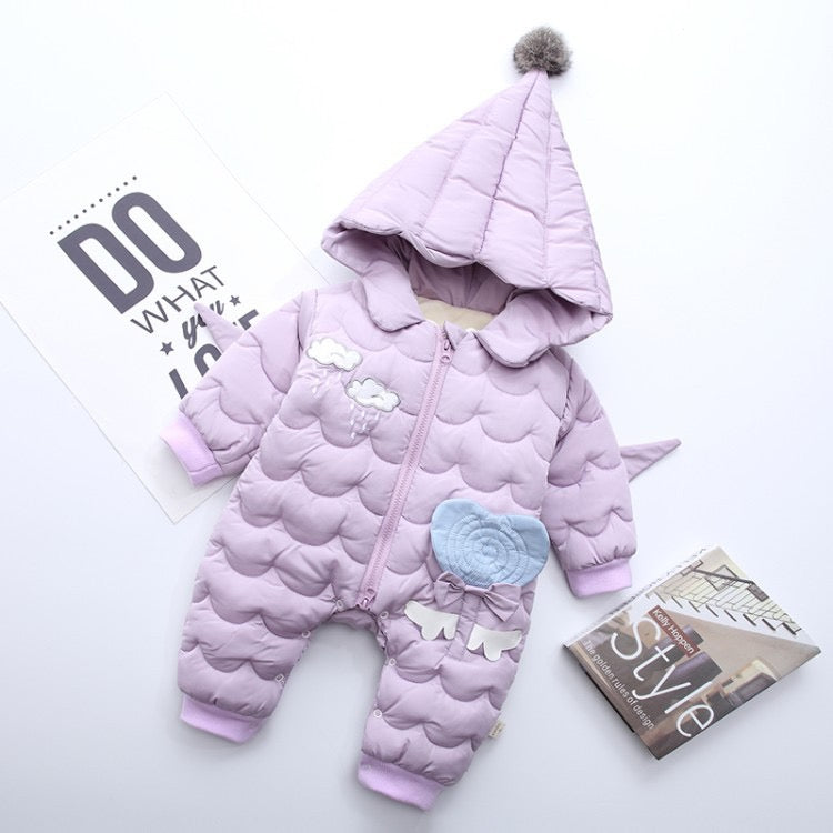 Wings Made Padded Winter Jumpsuit