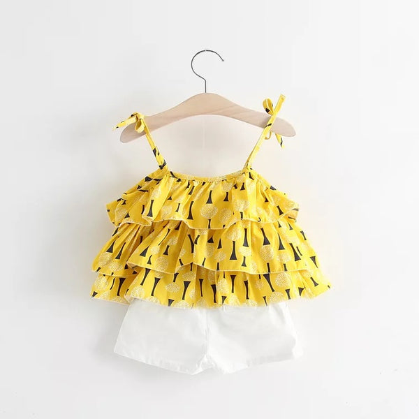 Yellow Ruffles Summer Set