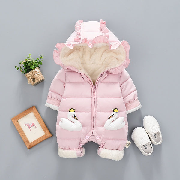Swan Made Padded Winter Jumpsuit