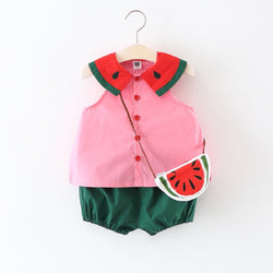 Watermelon Summer Set For Baby Girls