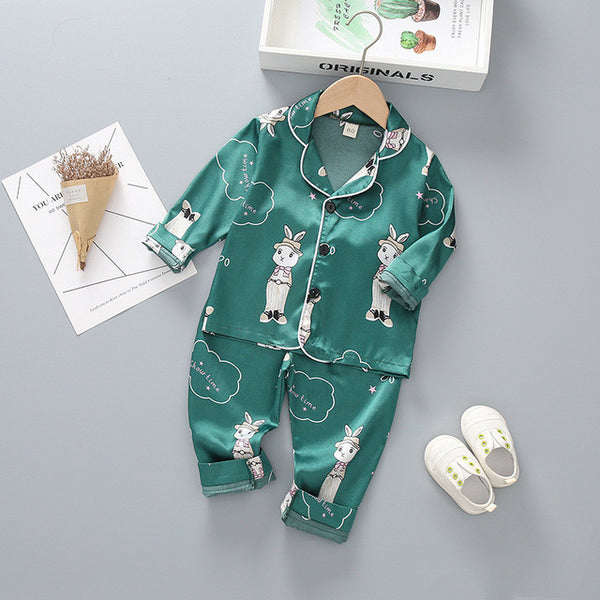 Green Printed Night Suit