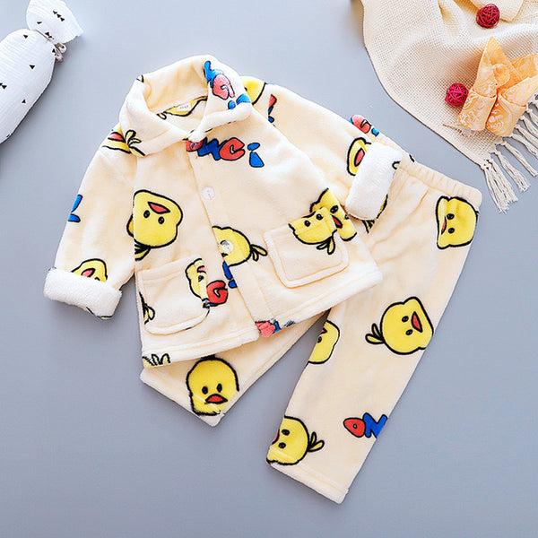 Tweety Printed Winter Night Suit