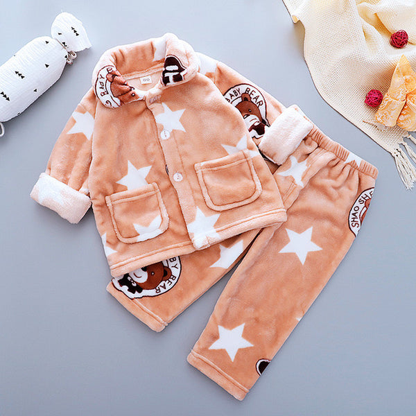 Star Printed Winter Night Suit