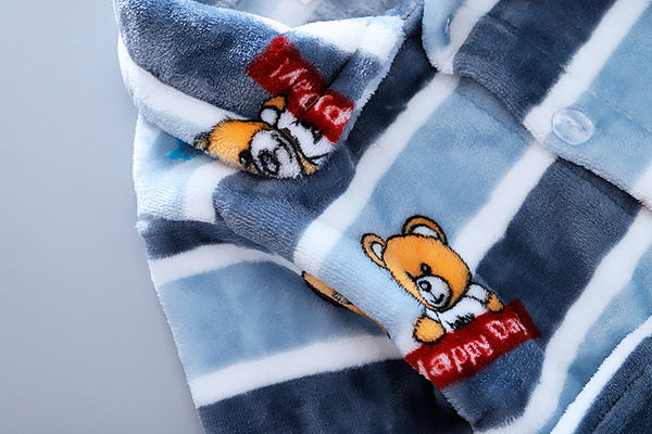 Striped Bear Winter Night Suit