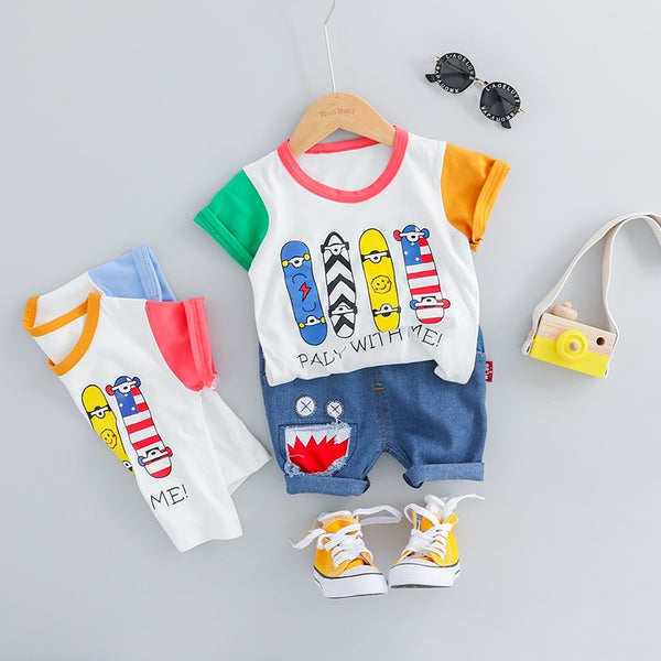Skate-Board Printed Summer Set