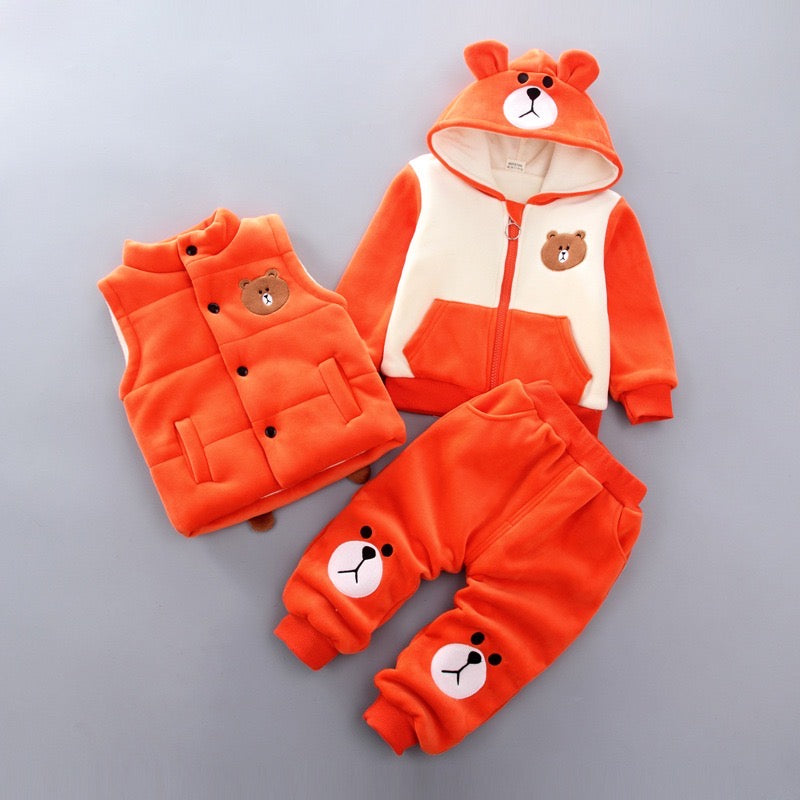Bear Made Contrast Color Winter Sets