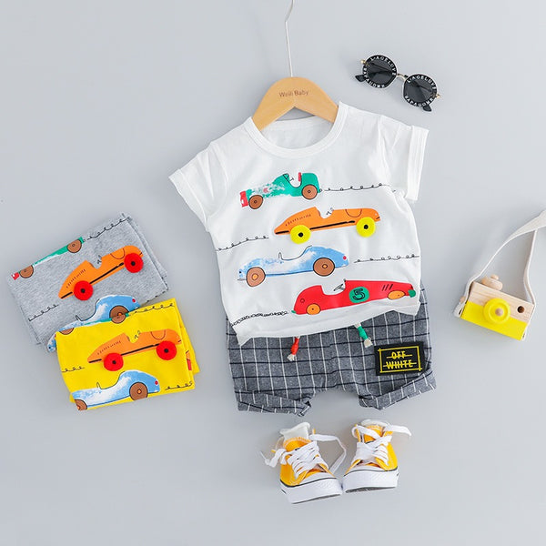 Car Printed Summer Set