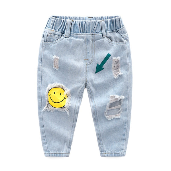 Smiley Patch Denim