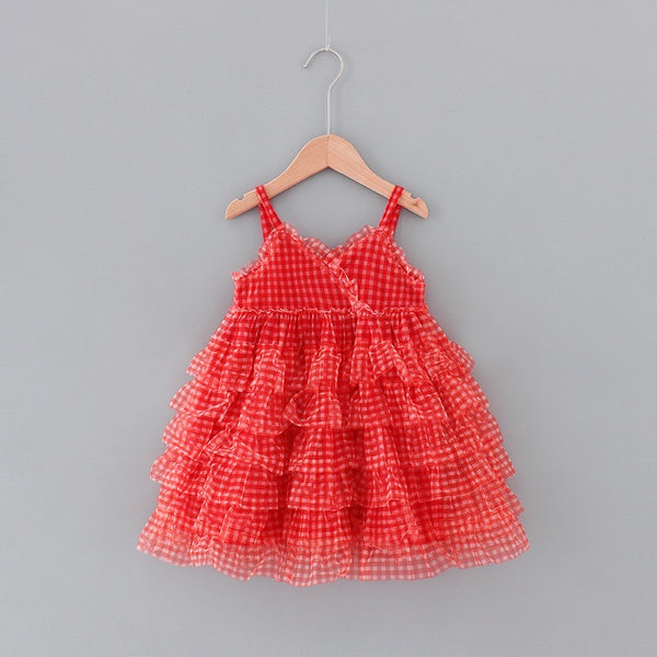 Checks Net Layered Dress