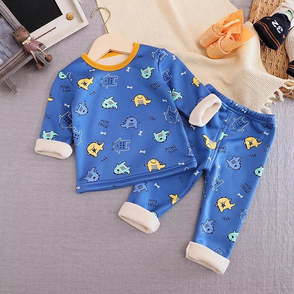 Printed Tee and pant winter night suit set